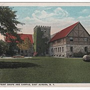 Roycroft Print Shops East Aurora New York NY Postcard