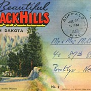 Souvenir Folder Beautiful Black Hills South Dakota