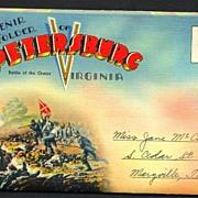 SOLD Souvenir Folder of Petersburg Virginia