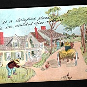 Artist Signed Postcard George Brill  Illustrated Town Scene
