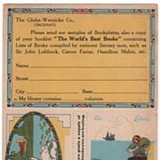 Large Postcard Advertising Globe-Warnicke Company Bookcases
