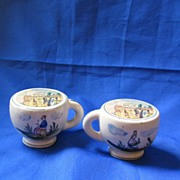 Pair of Rock City Teacup Shaped Salt and Pepper