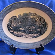 Currier & Ives Oval Platter Royal China