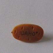 Plastic Idaho Potato Advertising Lapel Pin