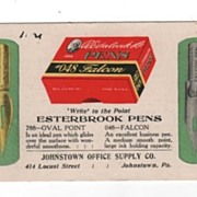 Esterbrook Steel Pens 1930 Advertising Pocket Calendar