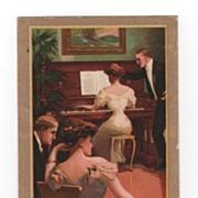 Harvard Piano Trade Card with 1907 Copyright