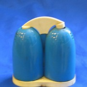 1950s Blue and White Single Salt and Pepper Shaker
