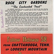 Rock City Gardens Lookout Mountain Chattanooga TN Brochure