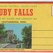 Ruby Falls Lookout Mt. Caves and Lookout Mt. Chattanooga TN Souvenir Folder
