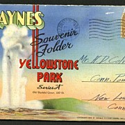 Haynes Souvenir Folder Yellowstone Park Series A