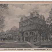 Main Building Vassar College Poughkeepsie NY New York Vintage Postcard