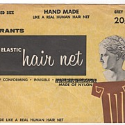 W T Grant Bobbed Size Hand Made Hair Net Grey 20 Cents