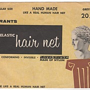 W T Grant Regular Size Hand Made Hair Net Grey 20 Cents