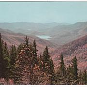 Mount Mitchell and Reservoir Asheville NC North Carolina Vintage Postcard