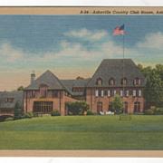 Asheville Country Club House Asheville NC North Carolina Vintage Postcard