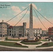 SOLD South Side Pack Square Asheville NC North Carolina Vintage Postcard