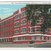 The Aston Apartments Asheville NC North Carolina in the Land of the Sky Vintage Postcard