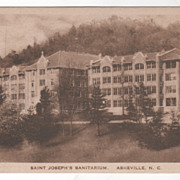 SOLD Saint Joseph's Sanitarium Asheville NC North Carolina Vintage Postcard