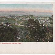 Asheville NC North Carolina from Overlook Park Vintage Postcard