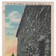 On the Front Terrace Grove Park Inn Asheville NC North Carolina Vintage Postcard