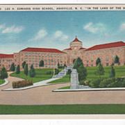 Lee H Edwards High School Asheville NC North Carolina in the Land of the Sky Vintage Postcard