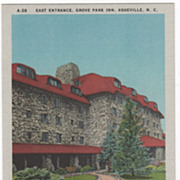 East Entrance Grove Park Inn Asheville NC North Carolina Vintage Postccard
