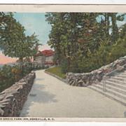 Approach to Grove Park Inn Asheville NC North Carolina Vintage Postcard