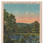 The Pisgahs from Camp Mary Gwynn Brevard NC North Carolina Vintage Postcard