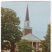 First Baptist Church Brevard NC North Carolina Vintage Postcard