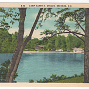 Camp Harry H Straus Brevard NC North Carolina Vintage Postcard