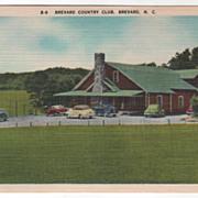 Brevard Country Club Brevard NC North Carolina Vintage Postcard