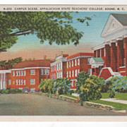 Campus Scene Appalachian State Teachers' College Boone NC North Carolina Vintage Postcard