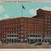 Arlington Hotel Binghamton NY New York Postcard
