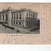 Railroad Depot Albany New York postcard
