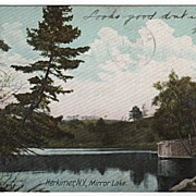 MIrror Lake Herkimer New York NY Postcard