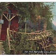 Old Mill Roricks Glen Elmira New York NY Postcard
