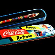 SOLD Coca Cola / Pentech Collectible Pen and Tin Presentation Case