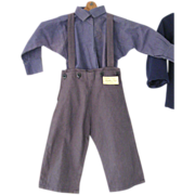 Vintage Amish Boys Shirt and Trousers Outfit, PA
