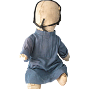 "Antique Amish 15"" Rag/Cloth Doll, PA"