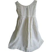 Early Child's White Petticoat Slip, Flannel