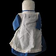 """Vintage Amish 10"""" Swartzentruber Stump Doll, OH"""