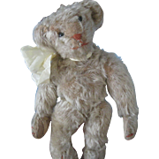 "REDUCED Antique American  8.5"" White Mohair Bear"