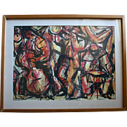 SALE Newbery Medal Winning Artist Ann Grifalconi Jazz Men Original Painting