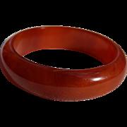 SALE Rare Luminous Cherry Amber Bakelite Bangle Bracelet