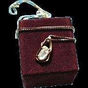 SALE 18K Unoaerre High-End Diamond & South Sea Baroque Pearl Pendant Necklace