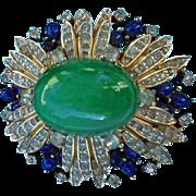 SALE Spectacular Jomaz Domed Pave Rhinestone Jeweled Brooch