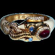 SALE RARE Ciner Moghul Elephant Clamper Bracelet