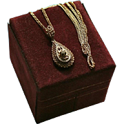 SALE 14K Gold Diamond Esemco Italy Pendant Necklace