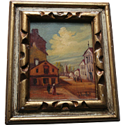Very Old Original Oil Painting Miniature on Board