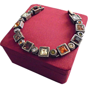 SALE Vintage Patricia Locke Modernist Crystal Bracelet